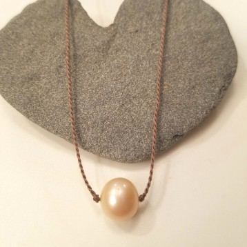 Single Silk Cream Pearl necklace
